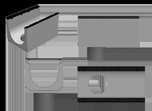 Бетонные лотки BGM массивные с водосливом - фото